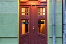 Hotel Benn exterior entrance art nouveau